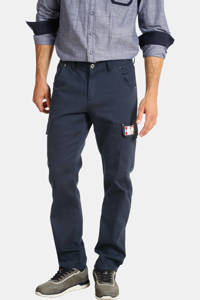 Jan Vanderstorm loose fit broek TUURE Plus Size donkerblauw, Donkerblauw