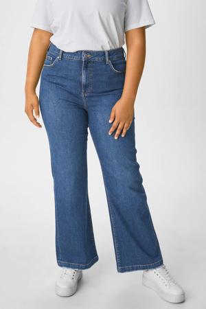 high waist wide leg jeans blauw