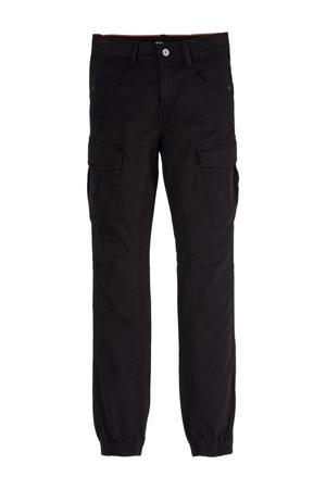 regular fit cargobroek zwart