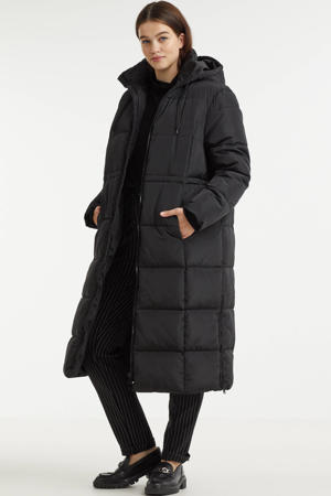 gewatteerde jas VERA van gerecycled polyester zwart