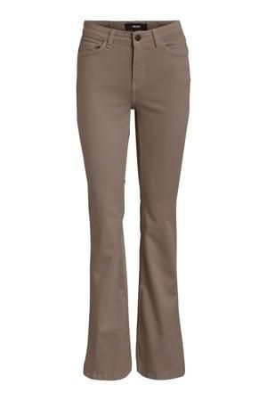 flared jeans OBJFINIA lichtbruin