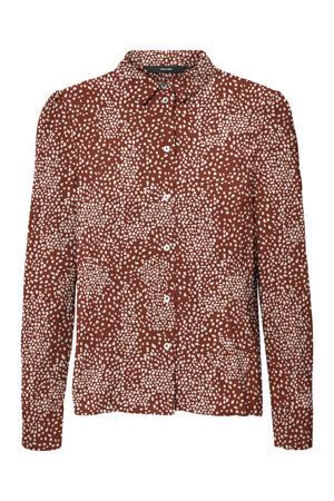 blouse VMSAGA van gerecycled polyester rood