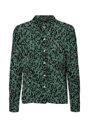 blouse VMSAGA van gerecycled polyester groen