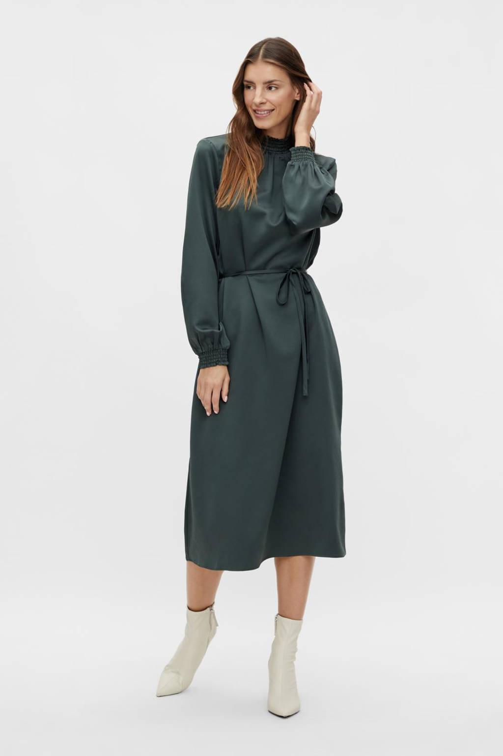VILA jurk VILADEE met open detail donkergroen, Donkergroen