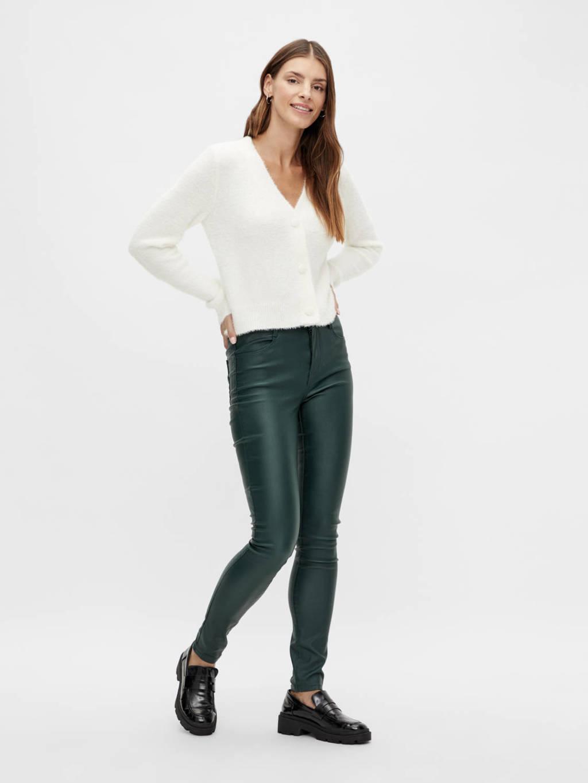 VILA skinny broek VICOMMIT groen, Groen