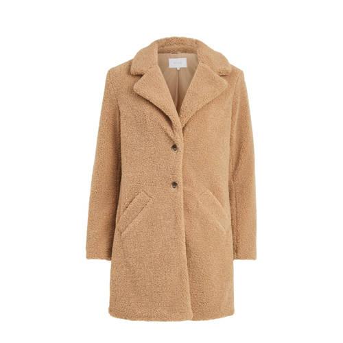 VILA coat VILIOSI TEDDY COAT/SU – NOOS camel