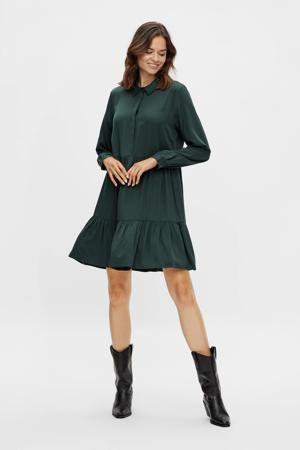 trapeze jurk VIMOROSE L/S SHIRT DRESS/SU - NOOS donkergroen