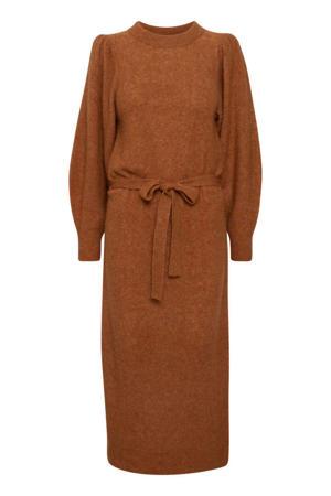 gemêleerde gebreide jurk IHJORDAN donker oranje