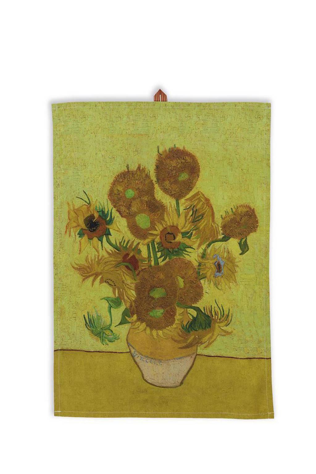 Van Gogh Museum theedoek Sunflower, Geel