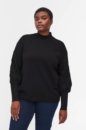 fijngebreide trui MBELLA zwart