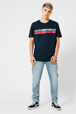 T-shirt Elias Cali van biologisch katoen deep blue