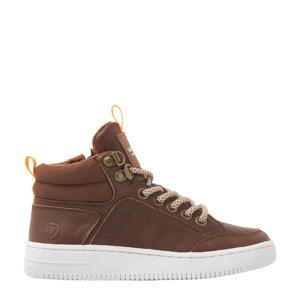 Dean Mid  hoge leren sneakers bruin