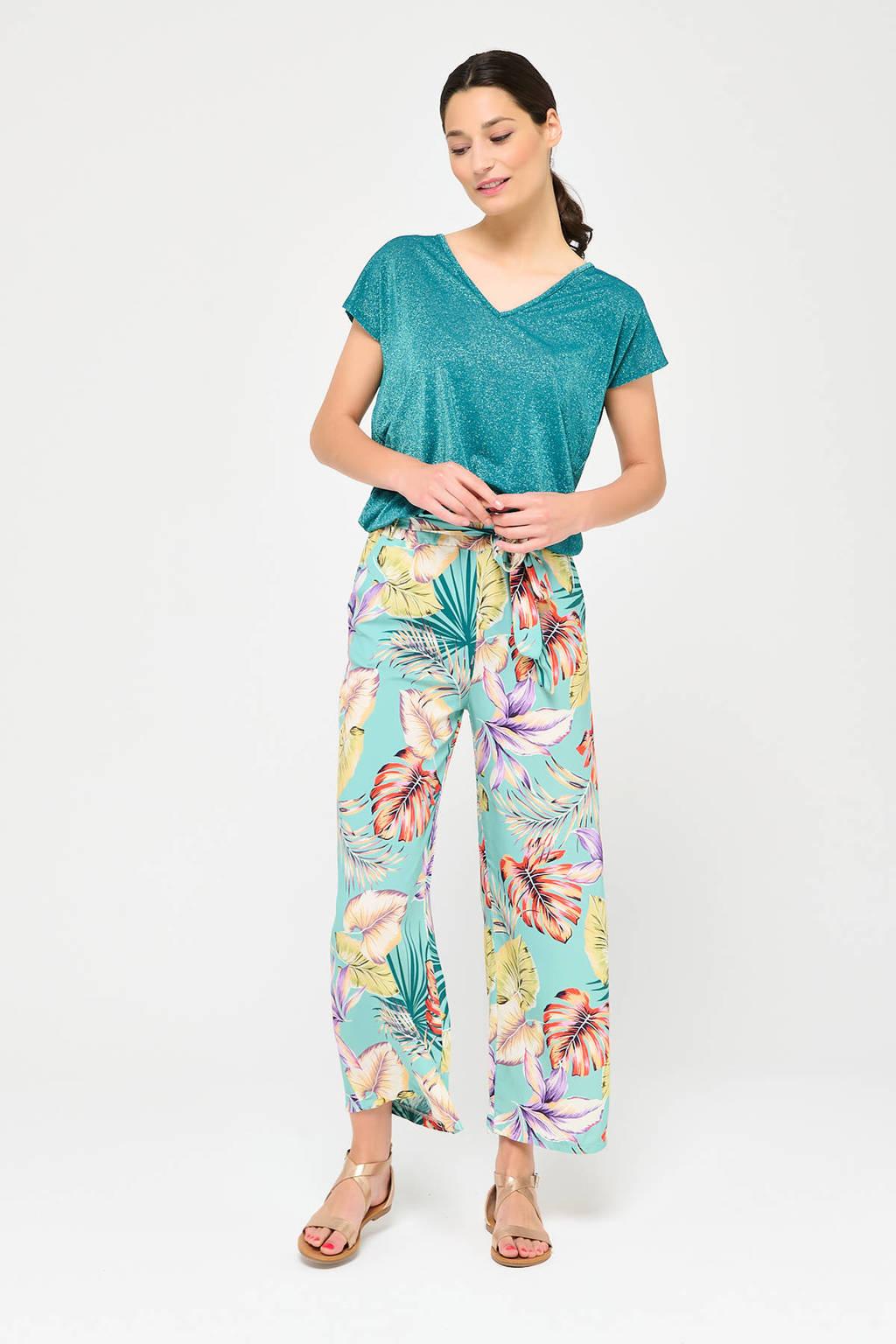 LOLALIZA T-shirt turquoise, Turquoise