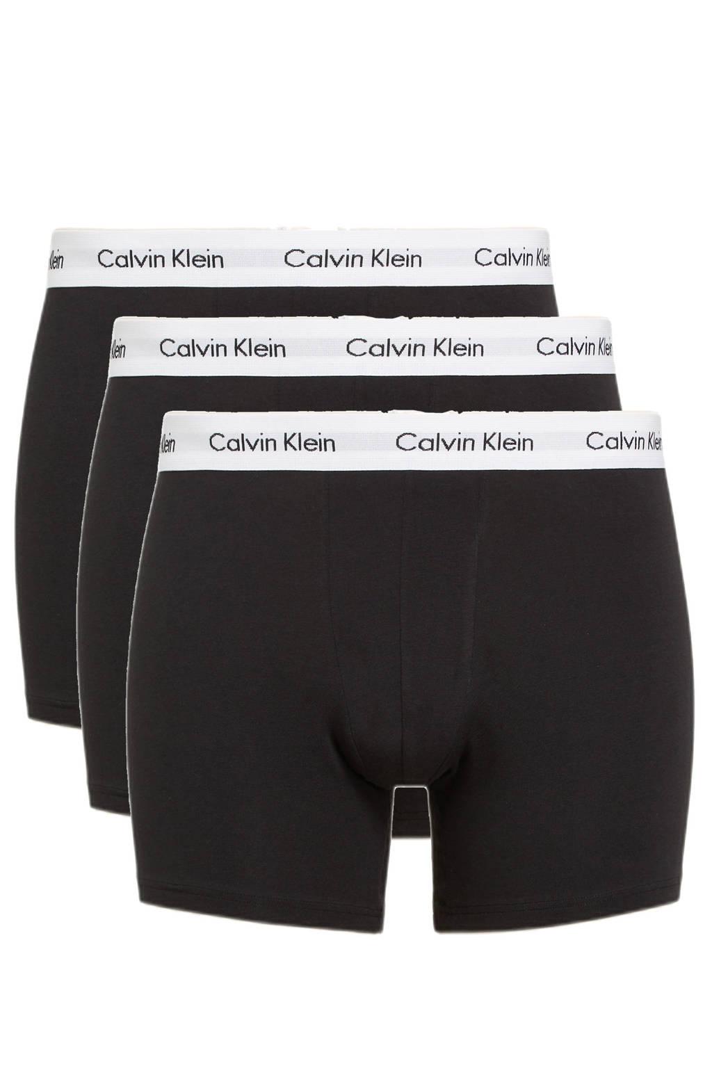 CALVIN KLEIN UNDERWEAR +size boxershort (set van 3), Zwart