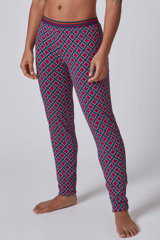 SKINY pyjamabroek met all over print petrol/fuchsia, Petrol/fuchsia