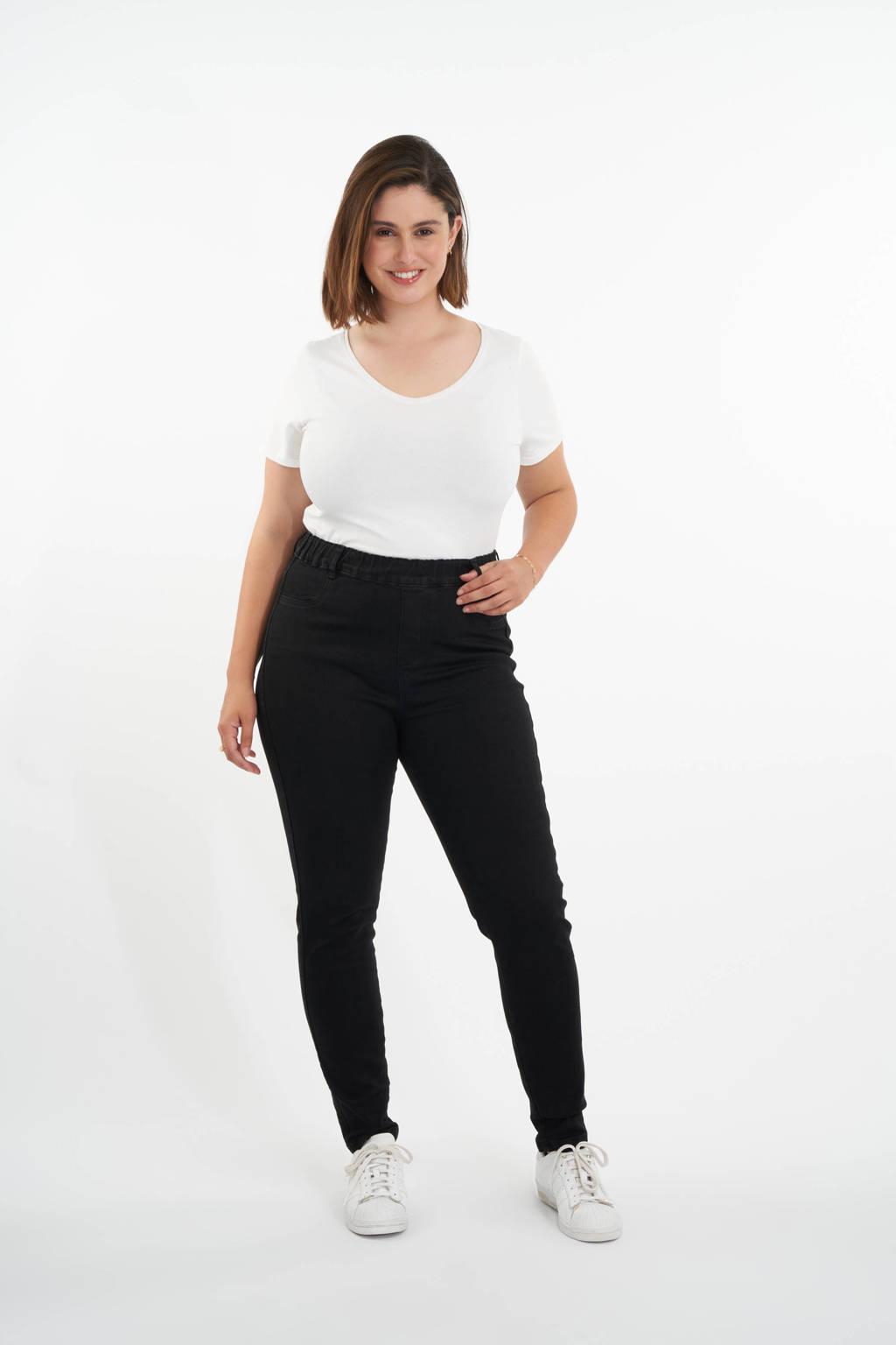 MS Mode skinny tregging zwart, Zwart