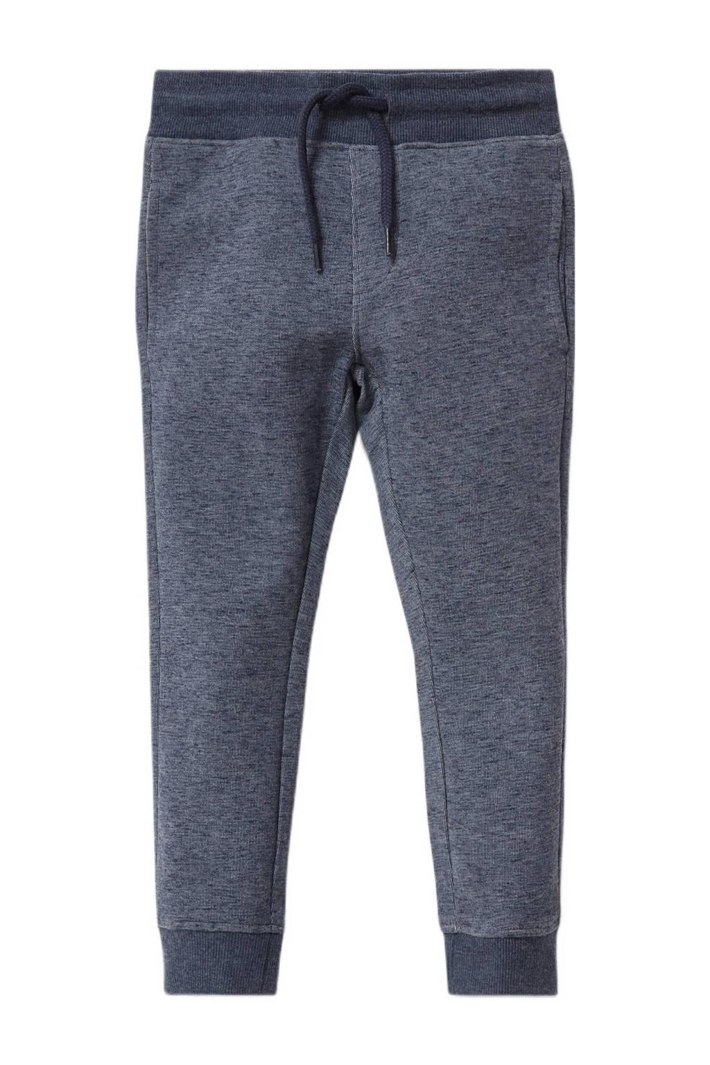 C&A gemêleerde slim fit joggingbroek donkerblauw, Donkerblauw