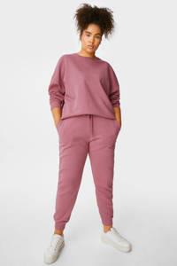 C&A XL Clockhouse tapered fit broek met biologisch katoen roze, Roze
