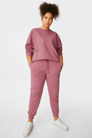 tapered fit broek met biologisch katoen roze