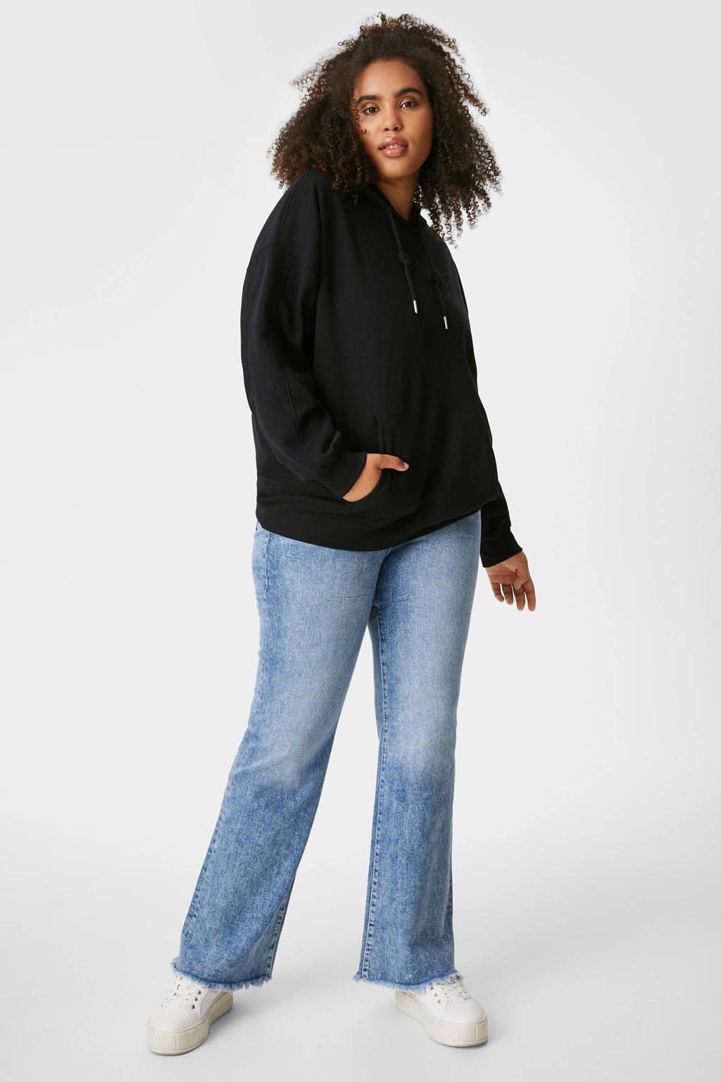 C&A XL Clockhouse flared jeans lichtblauw, Lichtblauw