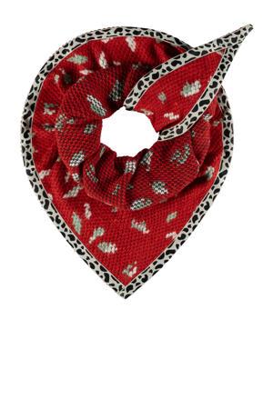sjaal Leopard Hot rood