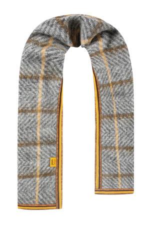 sjaal Blocked Golden grijs