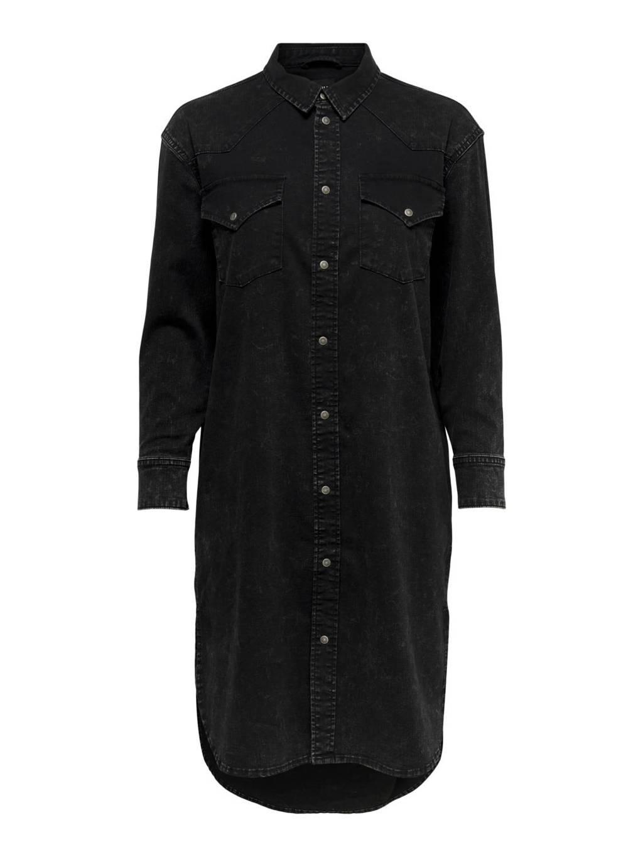ONLY spijker blousejurk ONLMARIE, Zwart