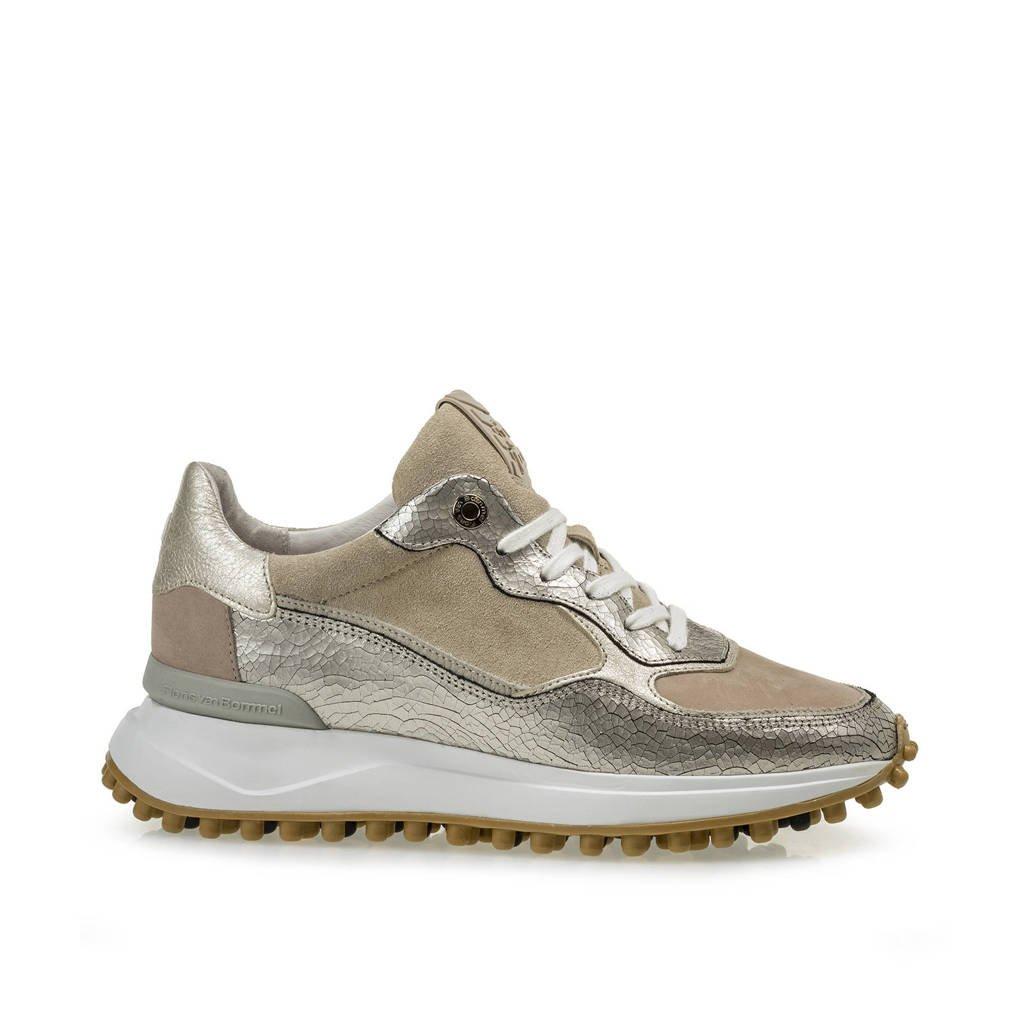 Floris van Bommel NOPPI  leren sneakers beige/metallic, Beige/Metallic