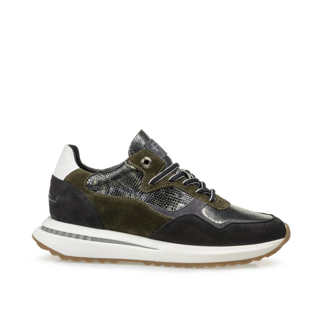 Floris van Bommel SUMI  suède sneakers donkergroen, Donkergroen/multi