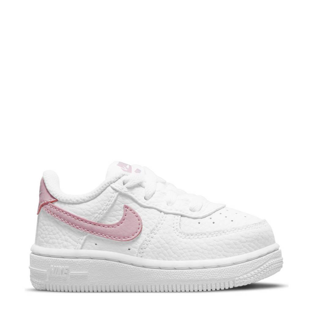 Nike Force 1  sneakers wit/roze, Wit/roze