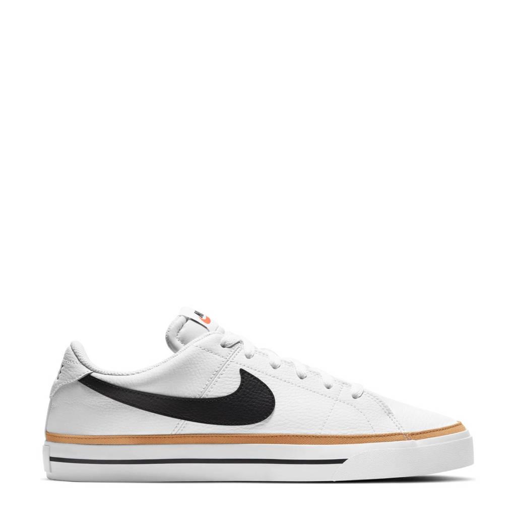 Nike Court Legacy sneakers wit/zwart/oker, Wit/zwart/oker