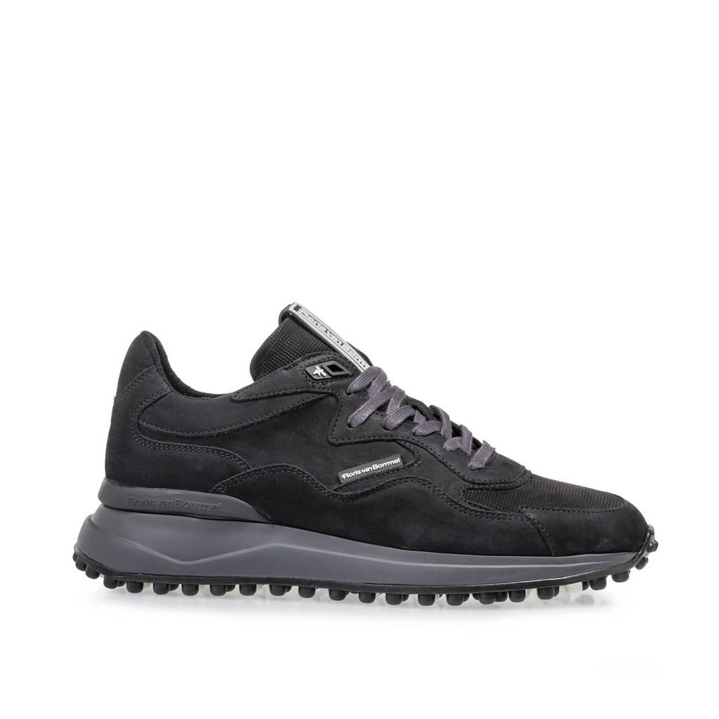Floris van Bommel Noppi  nubuck sneakers zwart, Zwart
