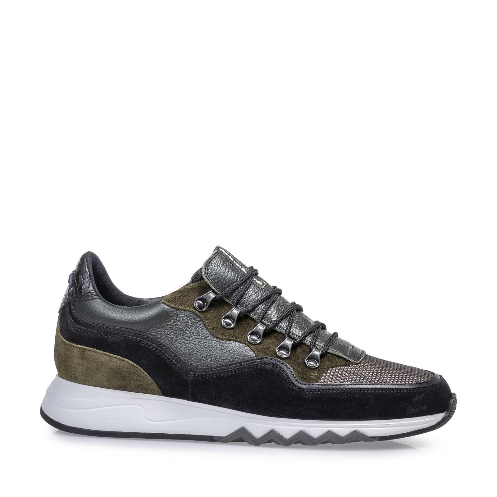 Floris van Bommel Nineti suède sneakers groen/multi online kopen