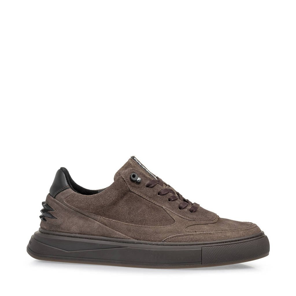 Floris van Bommel Richi  suède sneakers bruin, Bruin