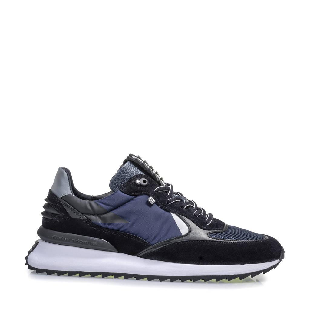 Floris van Bommel Sharki  suède sneakers blauw, Blauw