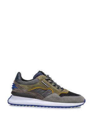 Sharki  suède sneakers groen/multi
