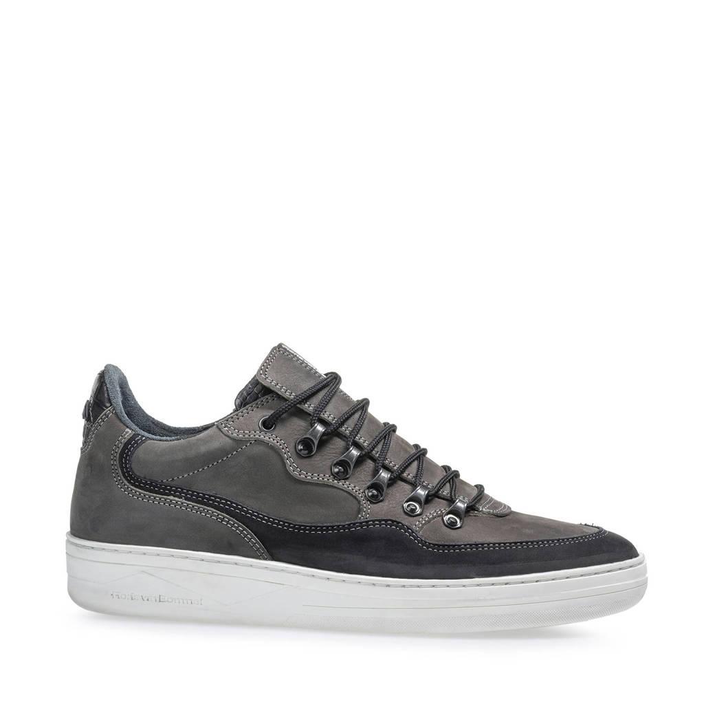 Floris van Bommel Wembli  nubuck sneakers grijs, Grijs