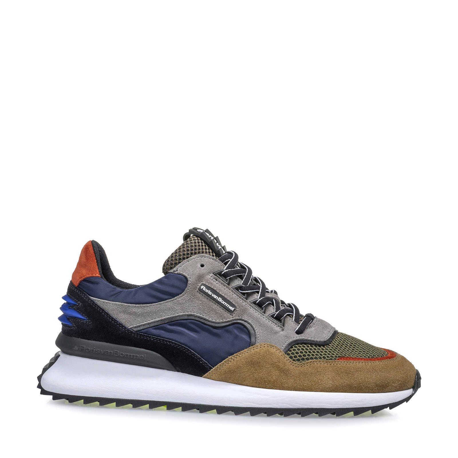 Floris van Bommel Fast Track sneaker met suède details online kopen