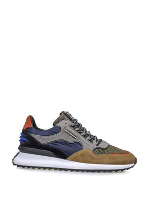 Sharki  suède sneakers grijs/multi