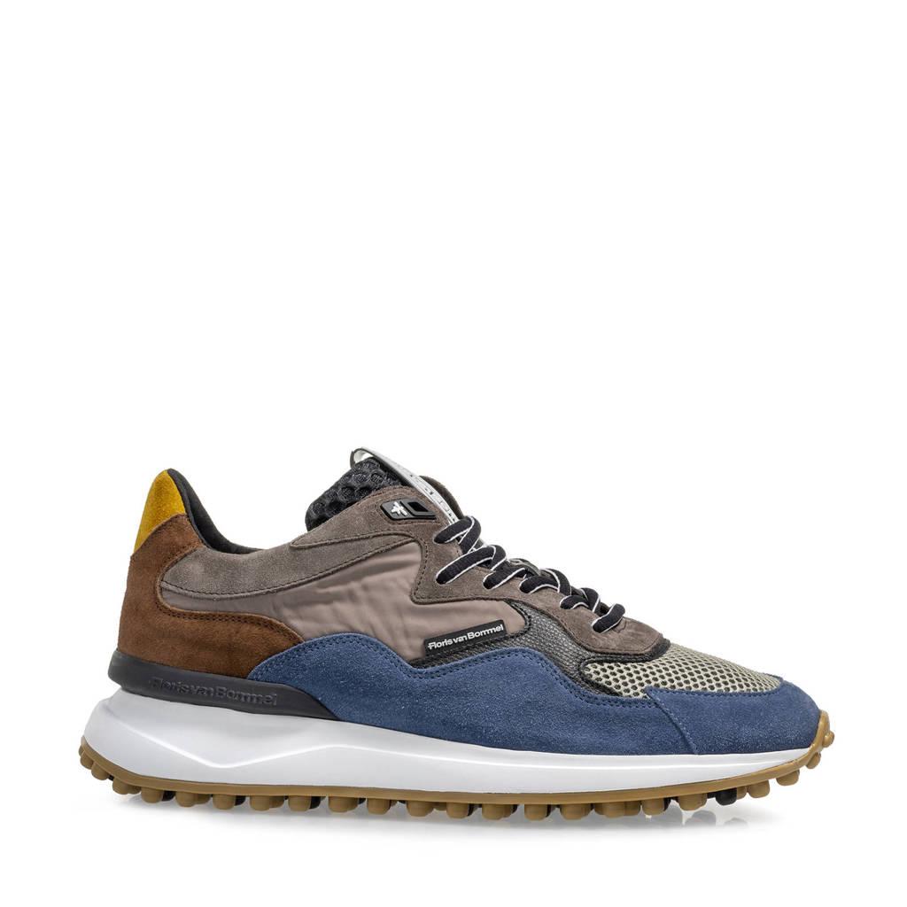 Floris van Bommel Noppi  suède sneakers blauw/multi, Blauw/multi