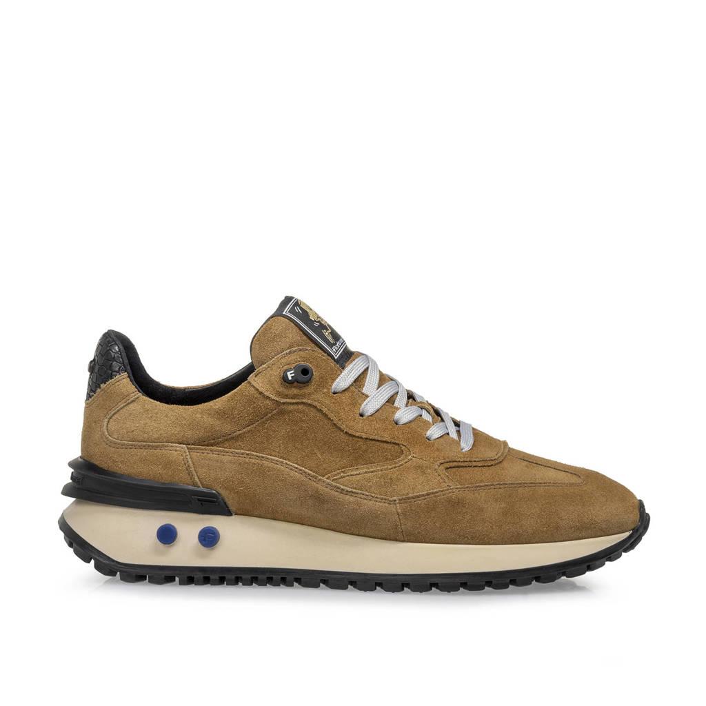 Floris van Bommel Vinti  suède sneaker zand, Zand/bruin