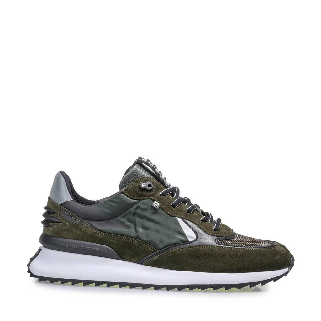 Floris van Bommel Sharki  suède sneakers groen, Donkergroen