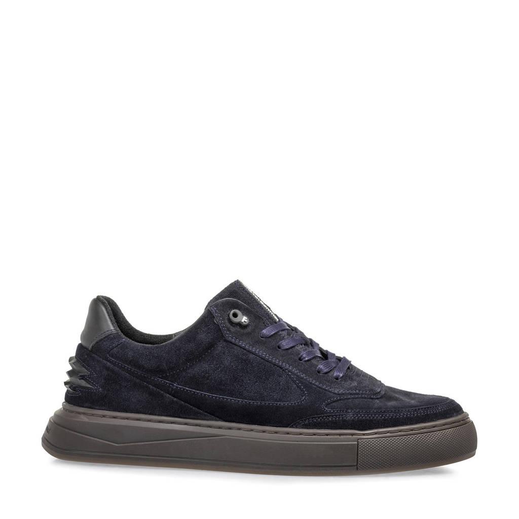 Floris van Bommel Richi  suède sneakers donkerblauw, Donkerblauw