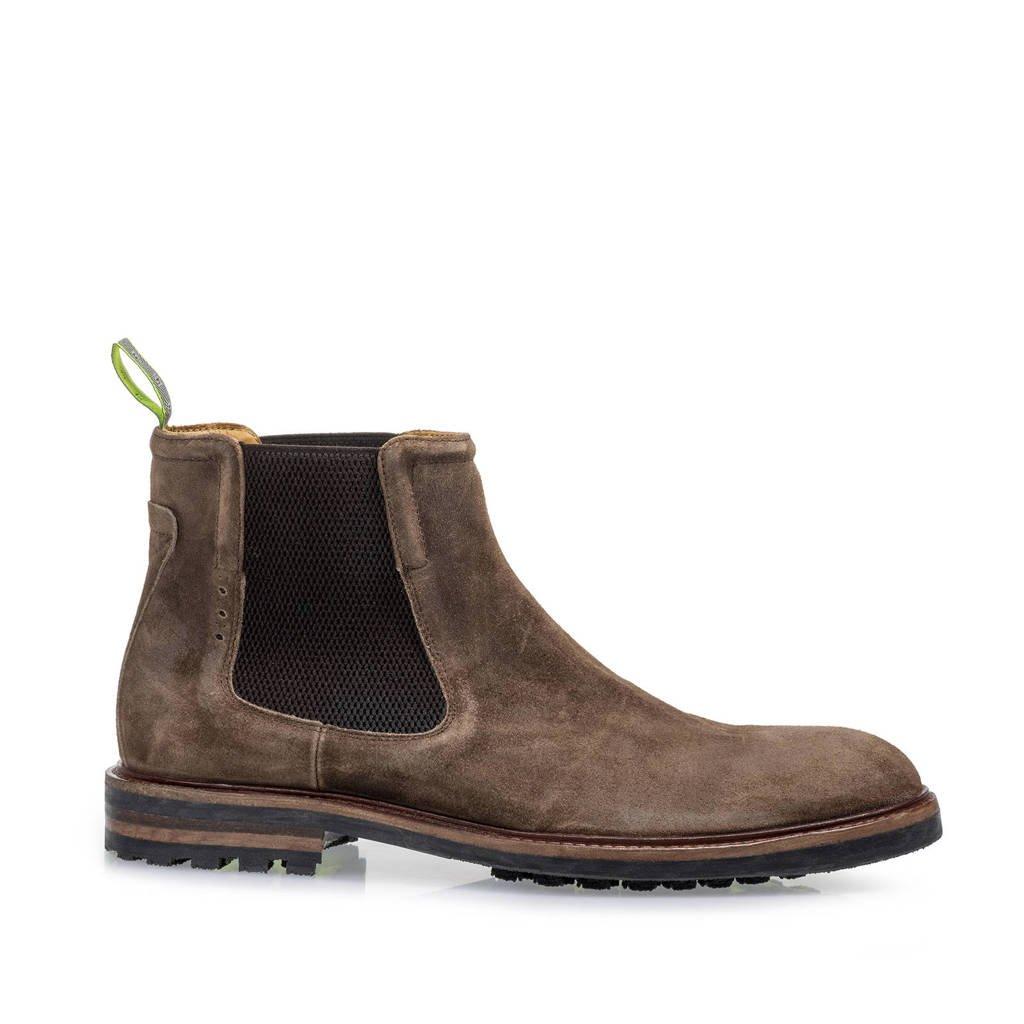 Floris van Bommel Rocki  suède chelsea boots bruin, Bruin
