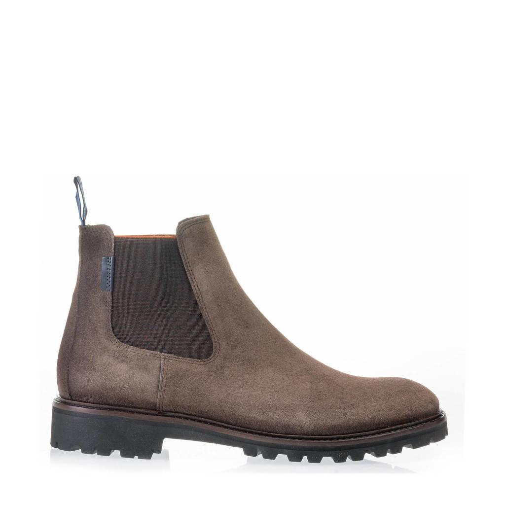 Floris van Bommel Sturdi  suède chelsea boots taupe, Taupe