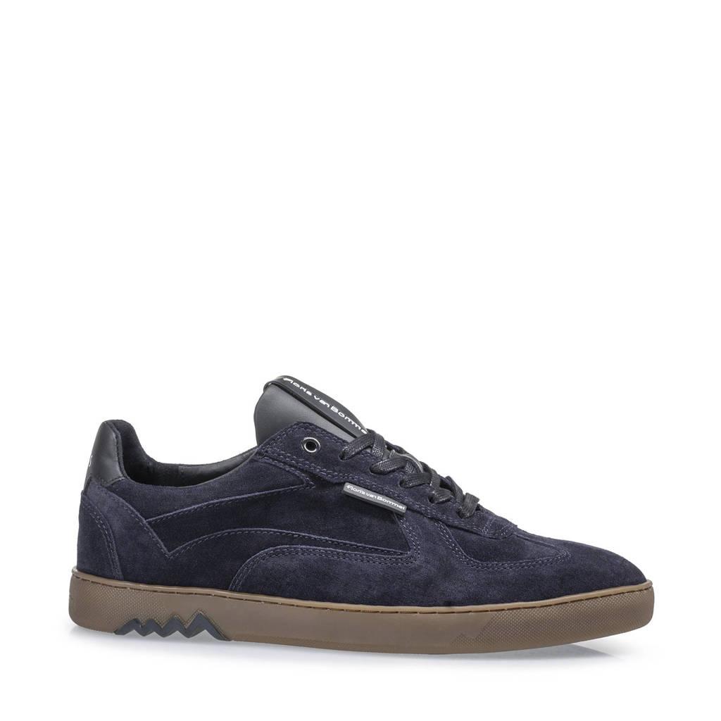 Floris van Bommel Armi  suède sneakers blauw, Blauw