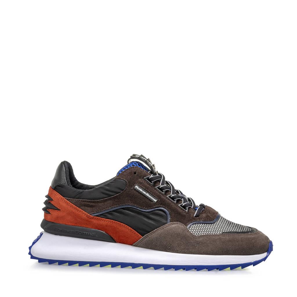 Floris van Bommel Sharki  suède sneakers bruin/multi, Bruin/multi