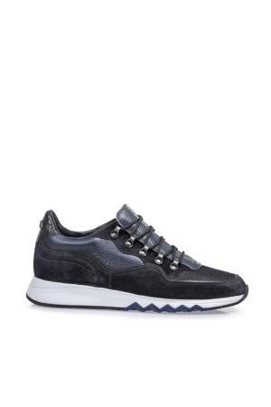 Nineti  suède sneakers donkerblauw