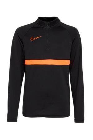 voetbalshirt zwart/oranje
