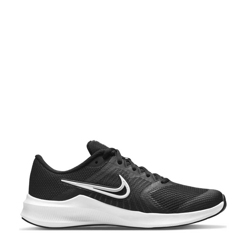 Nike Downshifter 11 hardloopschoenen zwart/wit/grijs, Zwart/wit